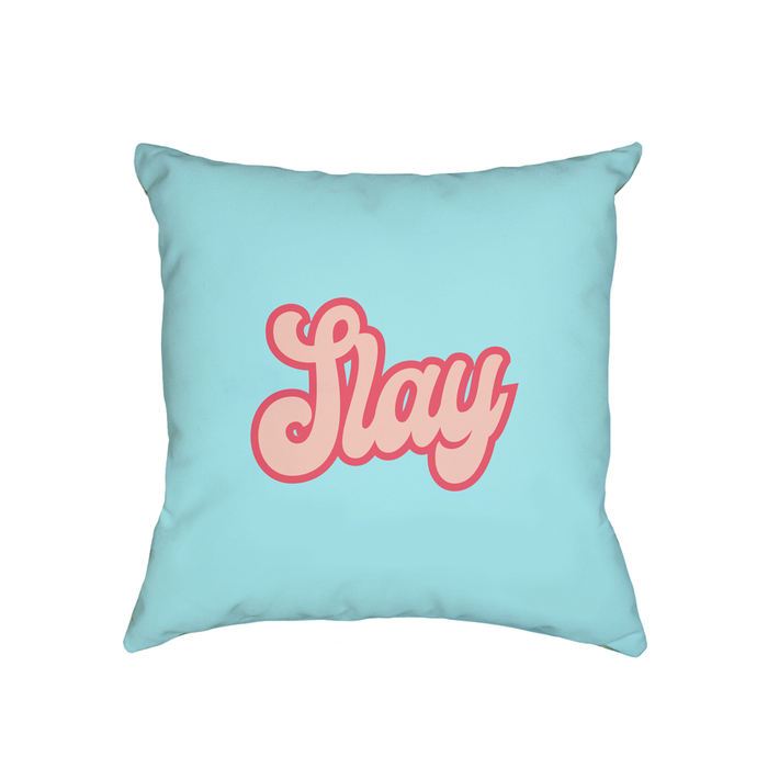 Slay Cushion | Cushion For Her, LGBT Gift, Female Empowerment Gift, Slay All Day, Slay Queen, Groovy Seventies Font