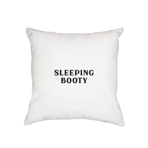 Sleeping Booty Cushion | Anniversary Gift, Valentines, Love Cushion For Bed, Monochrome, Vintage Typography