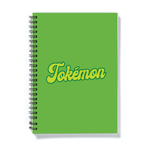 Tokémon A5 Notebook | Weed Journal, Funny Gift For Weed Smoker, Stoner, Gamer, Cannabis, Marijuana, Hash, Ganja, Pot