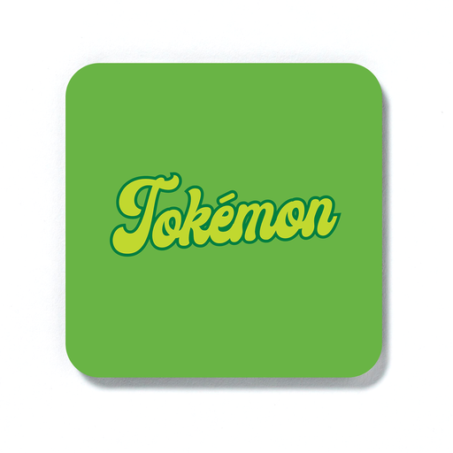 Tokémon Coaster | Weed Drinks Mat, Gift For Stoner, Weed Smoker, Gamer, Cannabis, Marijuana, Hash, Pot, Ganja