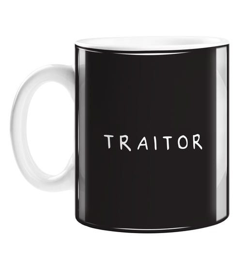 Traitor Mug | Rude Good Luck Gift For Coworker Who Is Leaving, You're Leaving, New Job, Judas, Monochrome