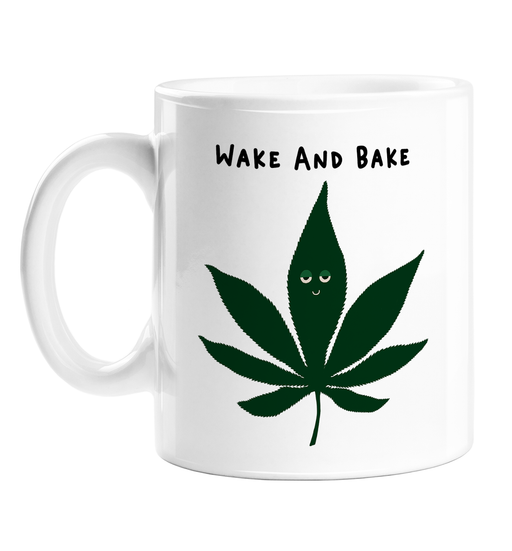 Wake And Bake Mug | Weed Mug, Stoner, Gift For Weed Smokers, Cannabis, Marijuana, Hash, Dope, Ganja, Pot