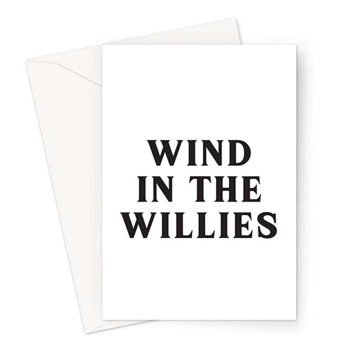 Wind In The Willies Greeting Card | Funny Greeting Card, Funny Literary Card, Funny Literature Card, Wind In The Willows Card, Vintage Typography