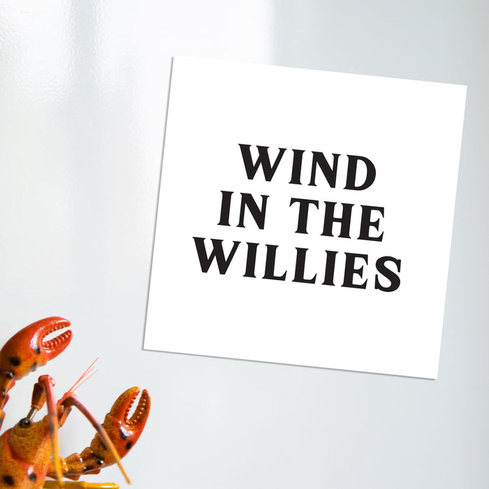 Wind In The Willies Magnet | Funny Fridge Magnet, Funny Literary Gifts, Funny Literature Gifts, Wind In The Willows Gifts, Vintage Typography