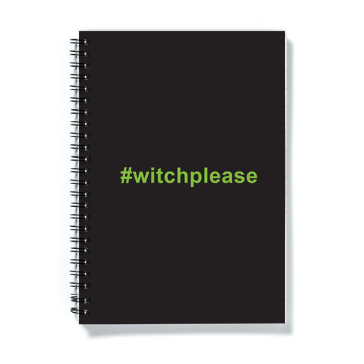 #witchplease A5 Notebook | Funny Halloween Witch Please Journal, Bitch Please Pun, Witches, Hags