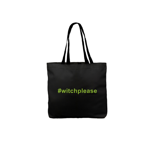 Witch Please Tote | Funny Trick Or Treat Bag, Pun Halloween Tote, Funny Halloween Gift