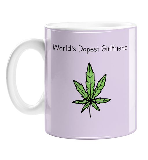 World's Dopest Girlfriend Mug | Stoner Gift For Girlfriend, Her, Funny Valentines Mug, Weed Pun, Cannabis, Marijuana, Dope, Hash, Ganja, Pot