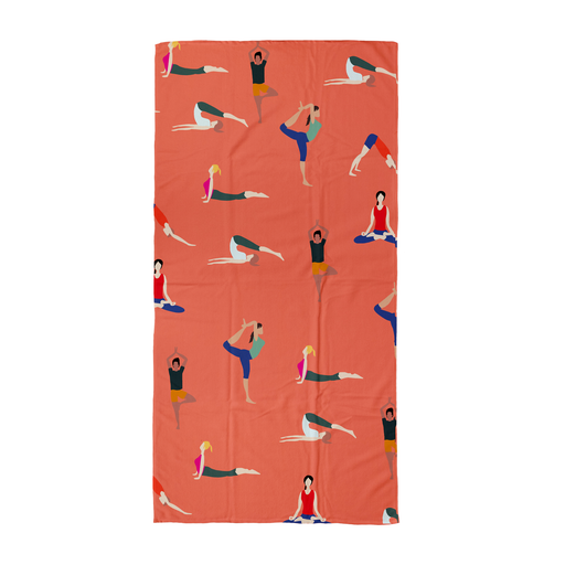 Yoga Poses Beach Towel | Yogis Posing Beach Towel For Yogi, For Yoga Friendm Lotus Pose, Cobra Pose, Downward Facing Dog, Tree Pose, Namaste