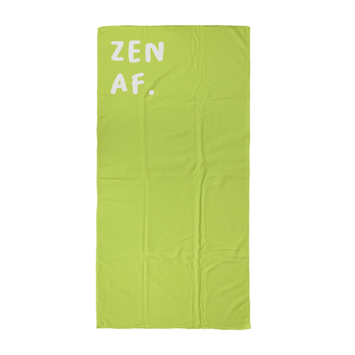 Zen AF. Beach Towel | Yoga Beach Towel, Gift For Yogi, Yoga Friend, Namaste, Zen
