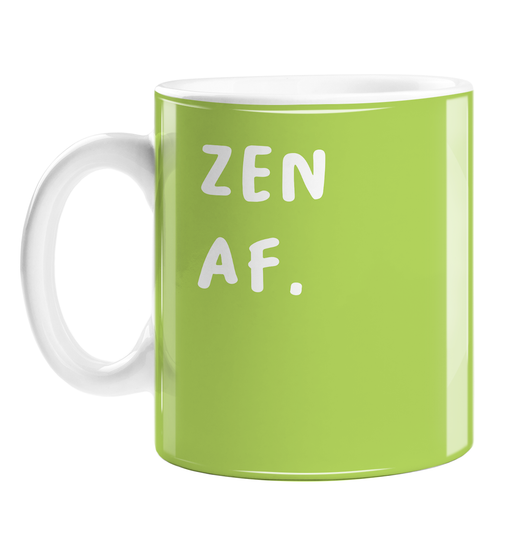 Zen AF. Mug | Funny Housewarming Gift For Yogi, Yoga Enthusiast, Funny Yoga Coffee Mug, Namaste, Meditation