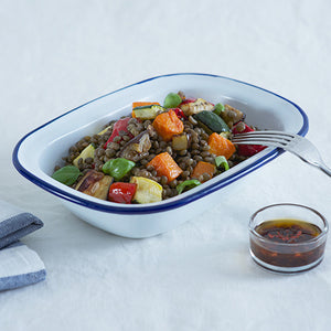PUY LENTIL AND ROASTED VEGETABLE SALAD