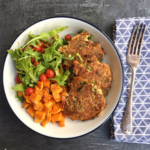 TENDERSTEM AND KIMCHI FRITTERS
