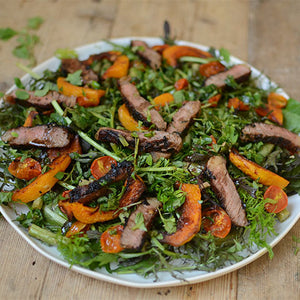 ITALIAN STEAK SALAD WITH A HERB DRESSING