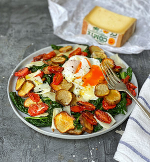 BRUNCH SALAD WITH COMTE CHEESE