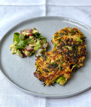 Zero waste vegetable fritters