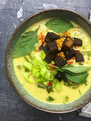 COCONUT, LEMONGRASS AND WILD RICE THAI SOUP