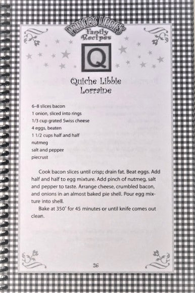 Princess Libbie's Family Recipes