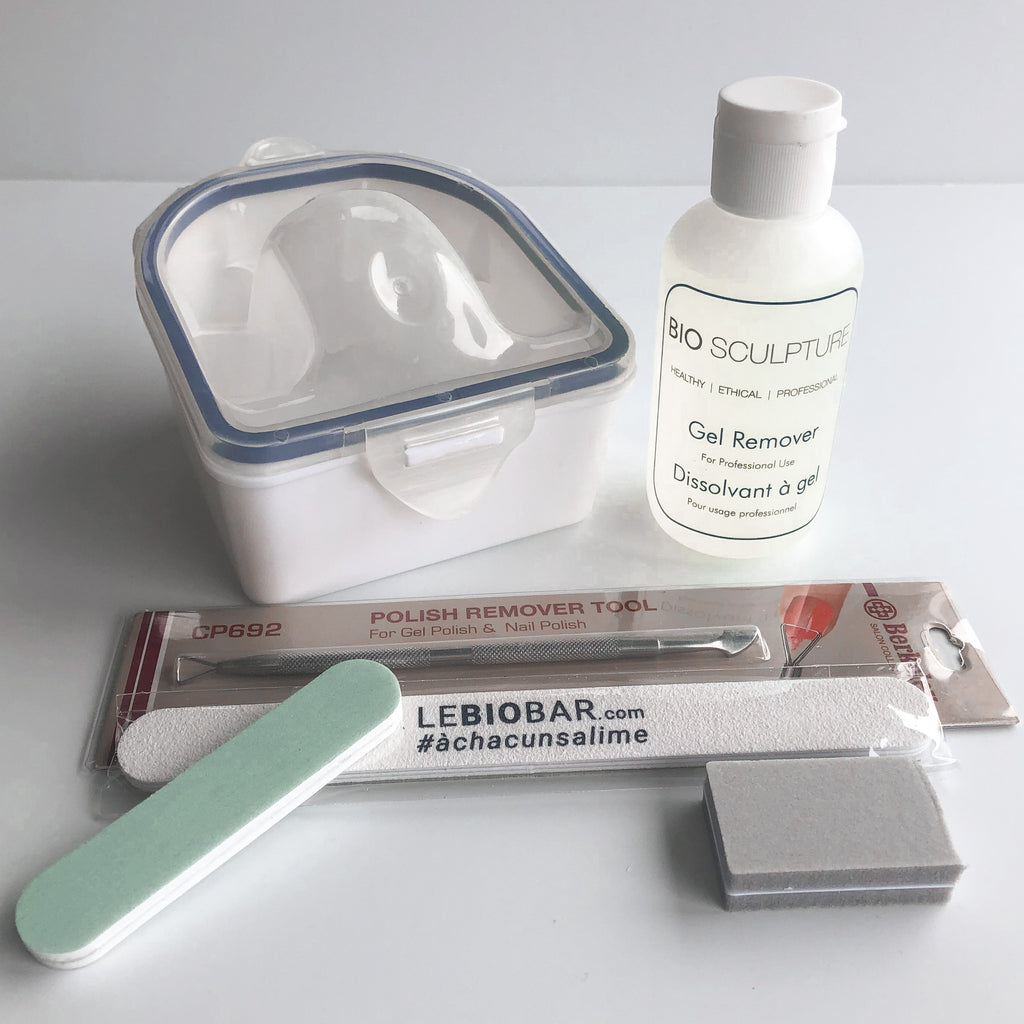 Ensemble de luxe pour le retrait du gel / Deluxe Gel nails removal kit Bio Sculpture Biogel