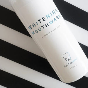 Sea salt and coconut mouthwash
