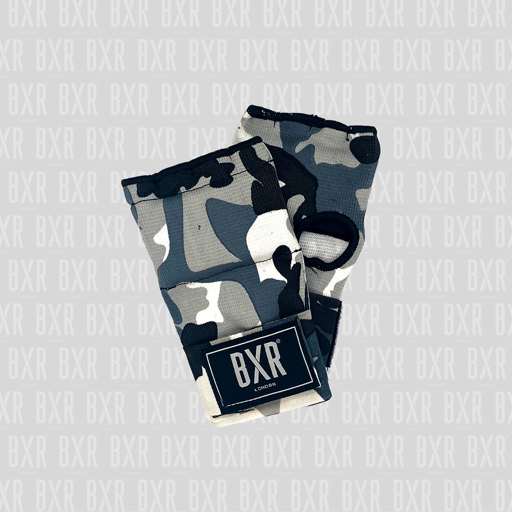 BXR Slip on Padded Hand Wraps - Grey Camouflage