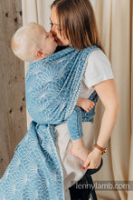 Load image into Gallery viewer, Long Woven Baby Wrap - LOTUS - BLUE