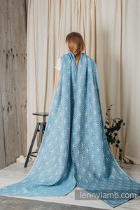 Long Woven Baby Wrap - LOTUS - BLUE