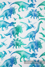 Load image into Gallery viewer, Swaddle Blanket 120x120cm - JURASSIC PARK WHITE