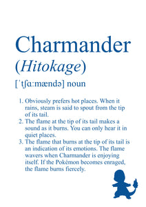 Pokémon Dictionary Definition 0004 Charmander