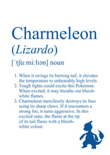 Load image into Gallery viewer, Pokémon Dictionary Definition 0005 Charmeleon