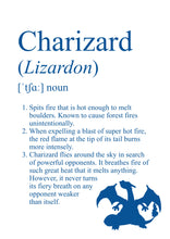 Load image into Gallery viewer, Pokémon Dictionary Definition 0006 Charizard