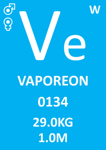 Periodic Table Pokémon Square 0134 Vaporeon