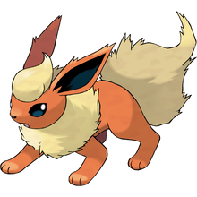 Load image into Gallery viewer, Pokémon Dictionary Definition 0136 Flareon