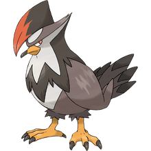 Load image into Gallery viewer, Pokémon Dictionary Definition 0398 Staraptor