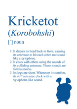 Load image into Gallery viewer, Pokémon Dictionary Definition 0401 Kricketot