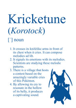 Load image into Gallery viewer, Pokémon Dictionary Definition 0402 Kricketune