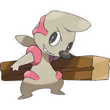 Load image into Gallery viewer, Pokémon Dictionary Definition 0532 Timburr