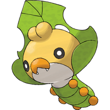 Load image into Gallery viewer, Pokémon Dictionary Definition 0540 Sewaddle