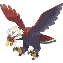 Load image into Gallery viewer, Pokémon Dictionary Definition 0628 Braviary