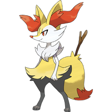 Load image into Gallery viewer, Pokémon Dictionary Definition 0654 Braixen
