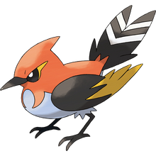 Load image into Gallery viewer, Pokémon Dictionary Definition 0662 Fletchinder