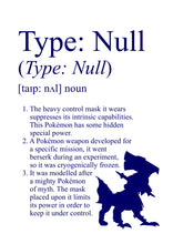 Load image into Gallery viewer, Pokémon Dictionary Definition 0772 Type: Null