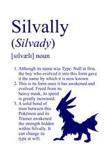 Load image into Gallery viewer, Pokémon Dictionary Definition 0773 Silvally