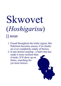 Pokémon Dictionary Definition 0819 Skwovet