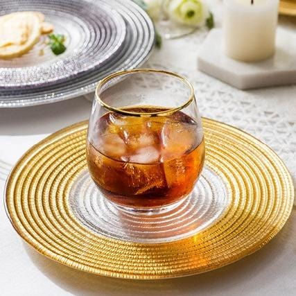 Maison | Glass with Metallic Detail Dinnerware