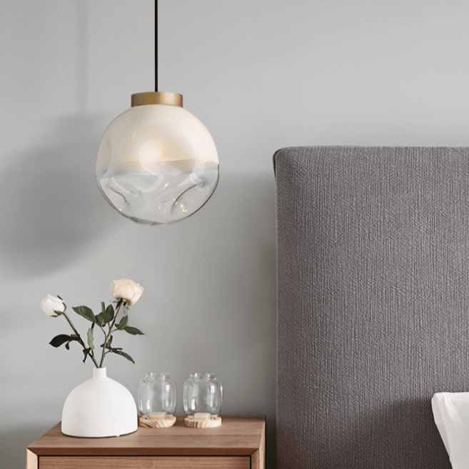 Everly | Hammered Glass with Gold Rim Serveware