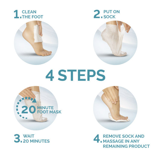 Amope Pedimask 20-Minute Foot Mask - Macadamia Oil