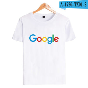Camiseta Casual Google Clothing, Google Print  O-neck Logo
