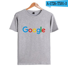 Carregar imagem no visualizador da galeria, Camiseta Casual Google Clothing, Google Print  O-neck Logo