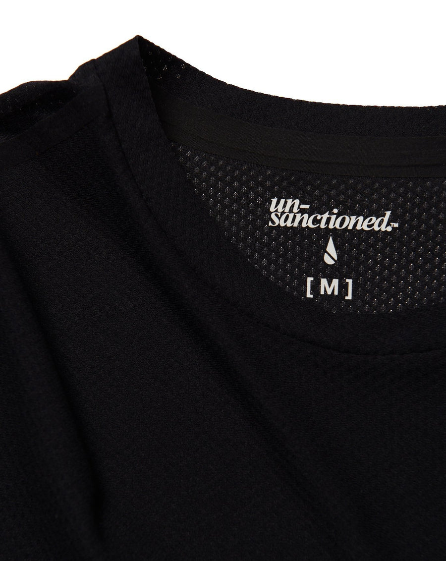 \\_UN-RUN LONG TEE 3/4 [BLACK]