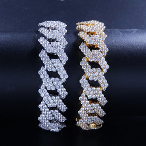 'Cubicon' Thick 17mm (Gold/White Gold) Iced Out Chain - Drip For Men